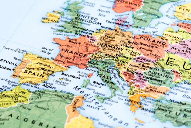Map of Europe. Detail from the World