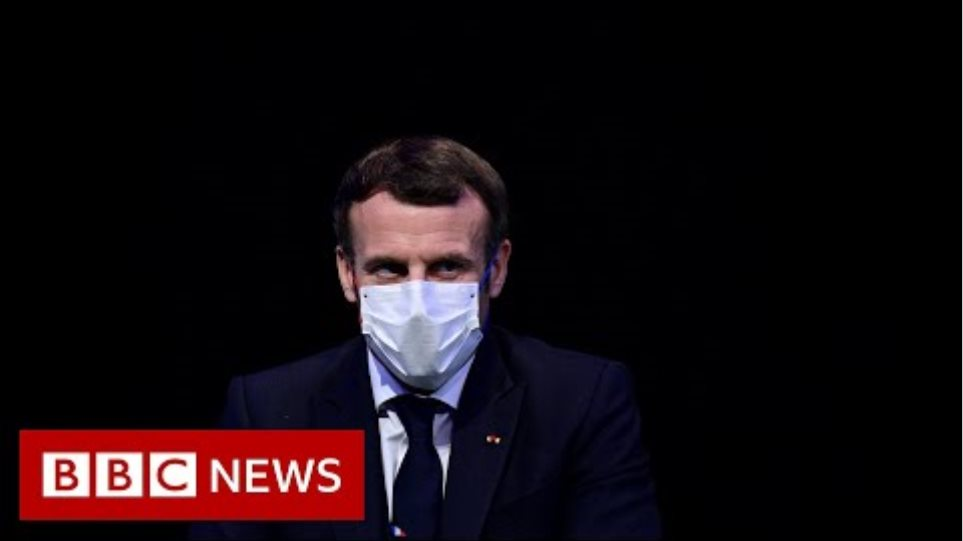 French President Macron tests positive for Covid - BBC News