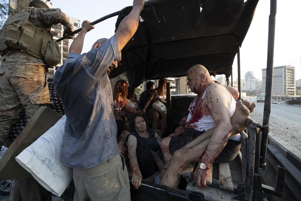 Τραυματίες μετά την ισχυρή έκρηξη στη Βηρυτό