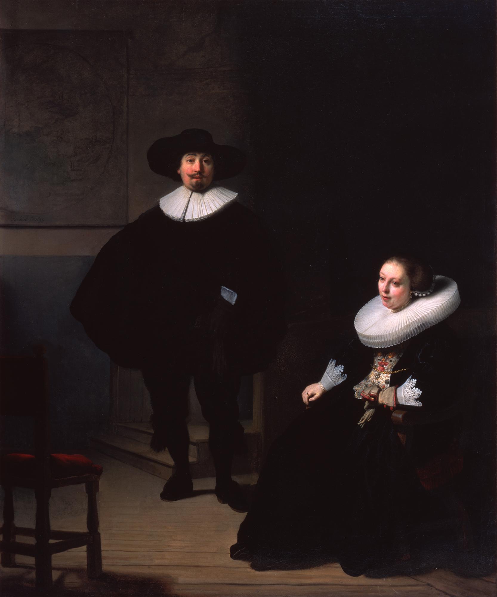 Ο πίνακας του Ρέμπραντ «Κύριος και κυρία στα μαύρα», Πηγή: Isabella Stewart Gardner Museum