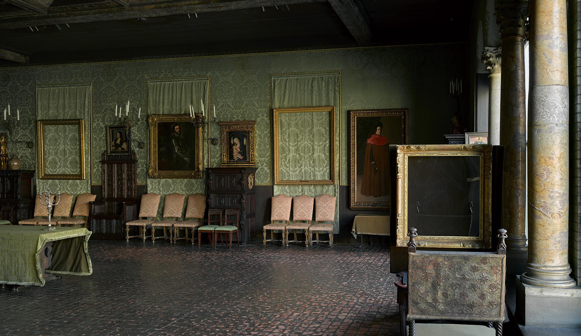 Οι άδειες κορνίζες στη θέση των πινάκων, Πηγή: Isabella Stewart Gardner Museum