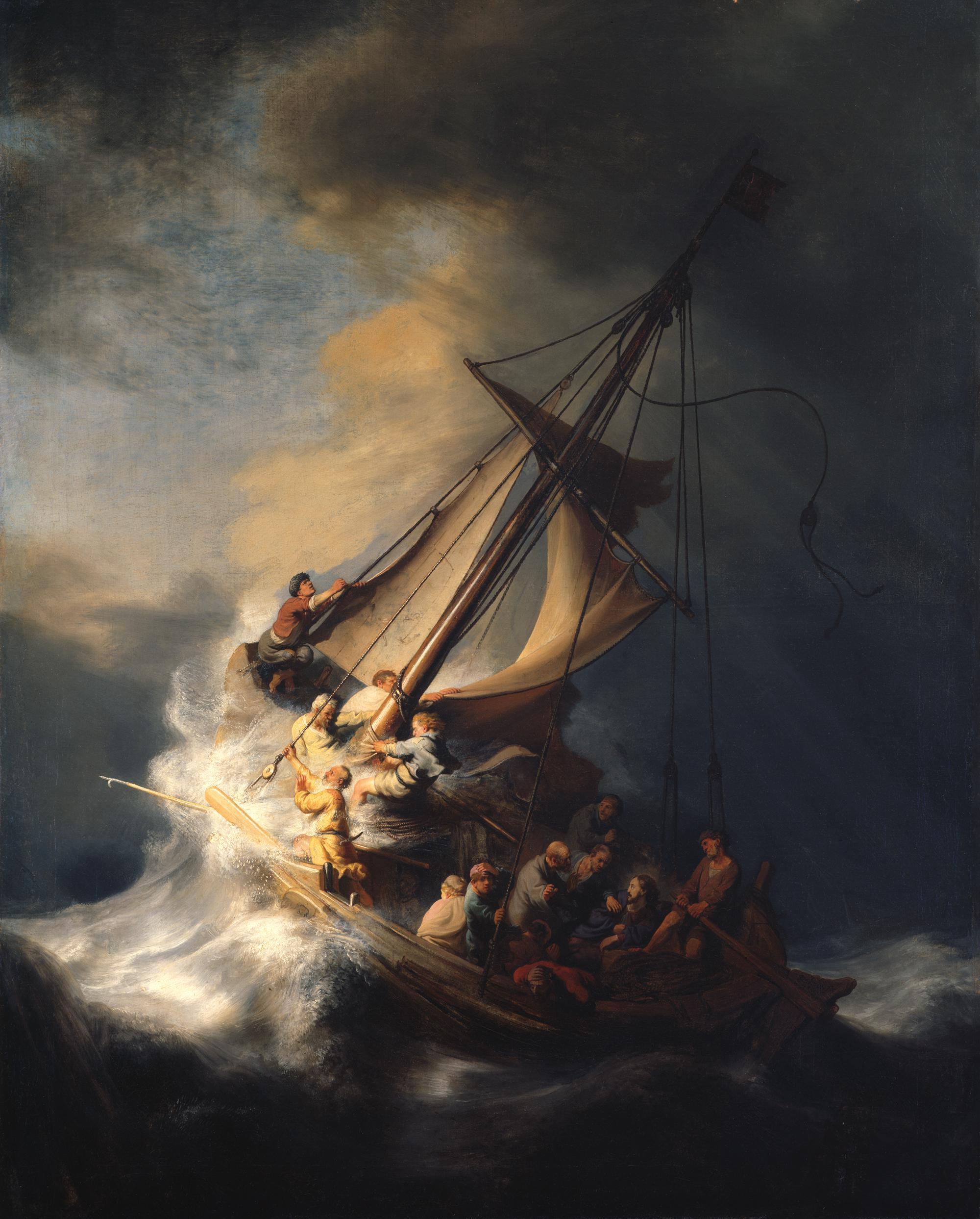 Ο πίνακας του Ρέμπραντ «Ο Χριστός στη θύελλα της θάλασσας της Γαλιλαίας», Πηγή: Isabella Stewart Gardner Museum