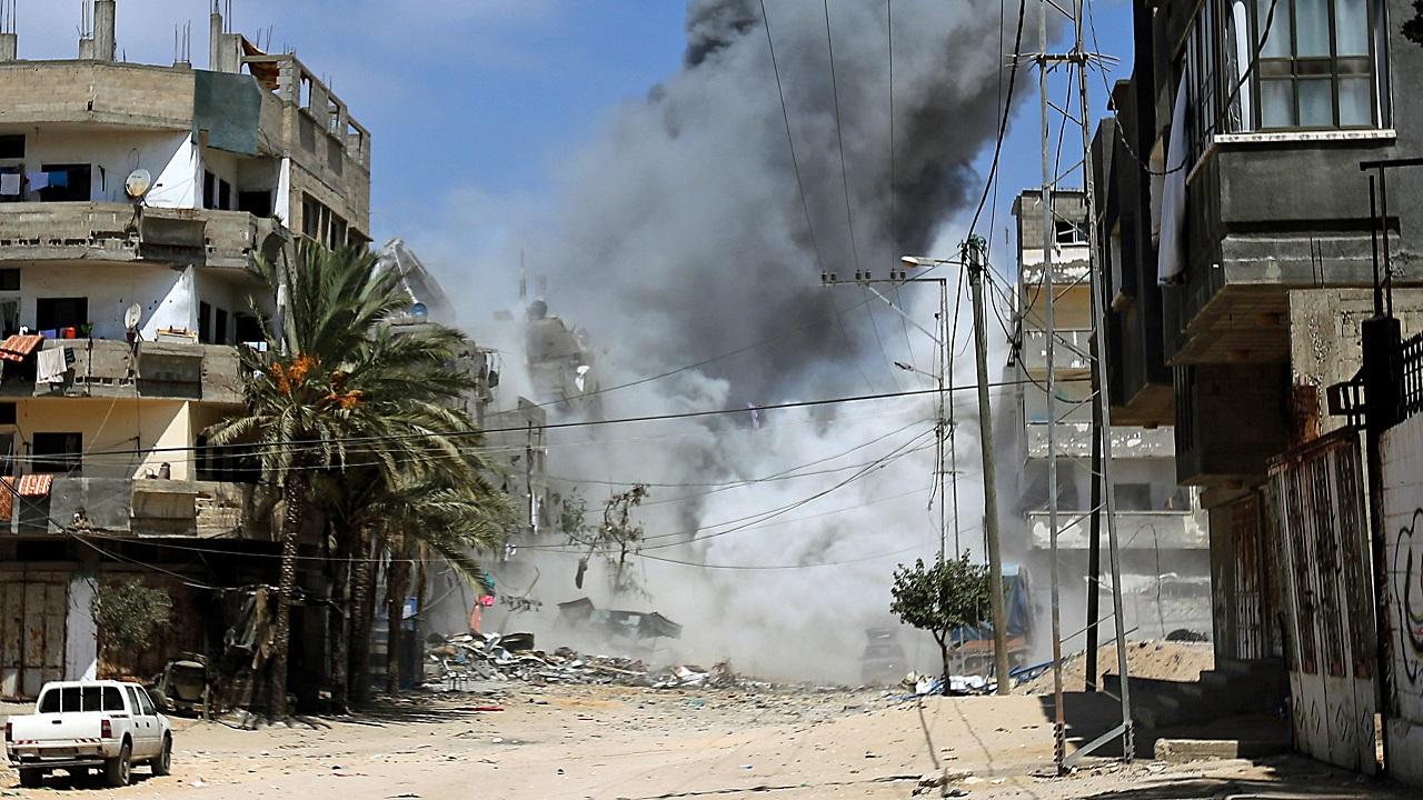 Εικόνα από τις συγκρούσεις του 2014 στη Γάζα (πηγή: EPA/MOHAMMED SABER)