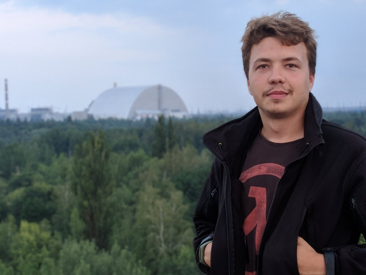 "Roman Protasevich on Twitter: ""Привет, чо. 2,5 км до 4го энергоблока ЧАЭС.… """